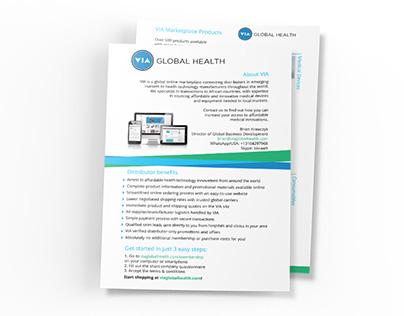 VIA Global Health - Print Design
