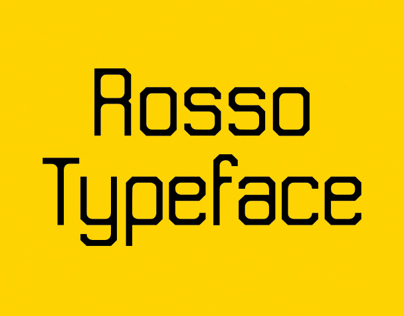 Rosso Typeface