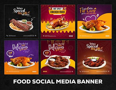 Food Social Media Banner - restaurants banner