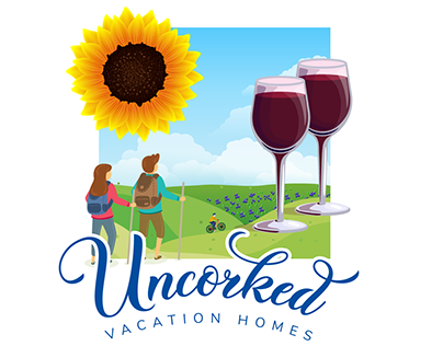 Uncorked Vacation Homes Logo Options