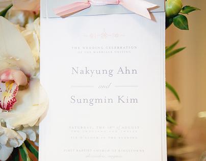 Nakyung & Sungmin Wedding Program