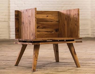 """Wooden armchair """"Dedicated to Skopje"""""""