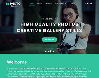 Photography Agency Custom Developed Website