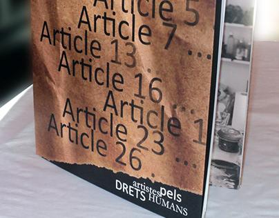 Libro de artistas para los Derechos Humanos.