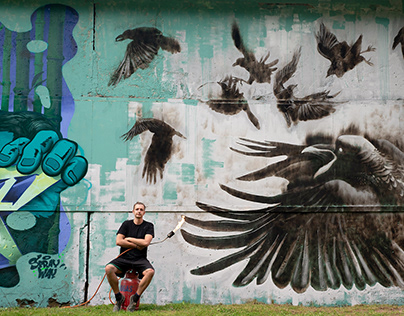 Crows from ashes graffiti festival.