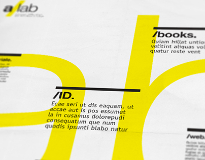 a/lab - Tabloid  |  EDITORIAL DESIGN