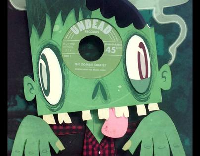 Vinyl Zombie 3d Paper Sculpture In A Box On Behance
