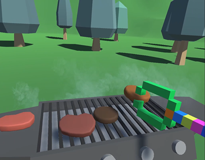 BARBECUE VR LOW POLY