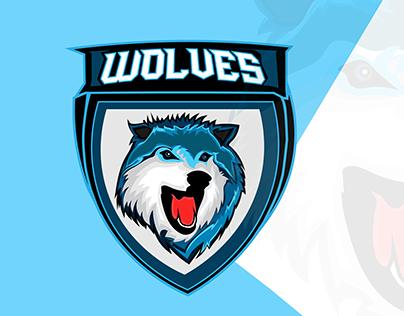 Wolves Mascot Logo Design