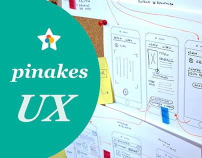 Pinakes APP - UX part
