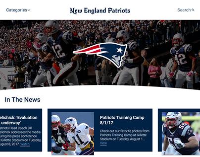 NFL Team Homepage