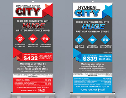 Car Dealership Pop-Up Banners