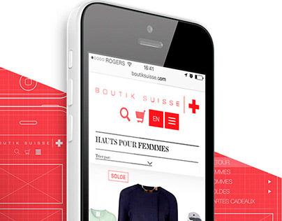 Boutik Suisse - Nouveau design Web