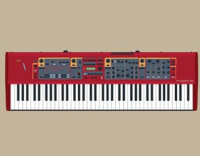 NordStage Piano | Yamaha Bass Guitar | DJ Controller