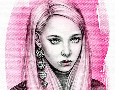 Girl with diamonds earring