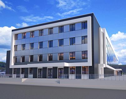 Concept Design of the Shopping Mall facade V.4.