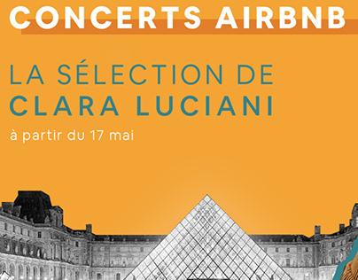 Direction artistique des concerts Radio Nova au Louvre
