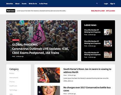 Bootstrap News Template WorldTime