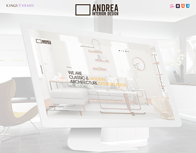 Andrea - Architecture and Interior Design Landing Page