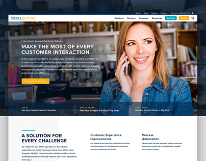 Noble Systems | Web Design & Sales Collatoral