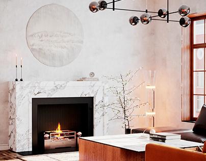 Fireplace apartment