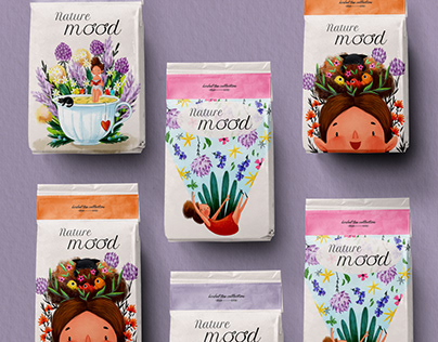 Herbal tea collection packaging