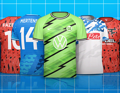 Esports/Soccer Crew Neck Jersey Mock-up Templates