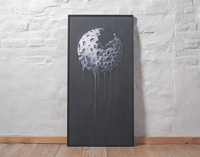 Melting moon print