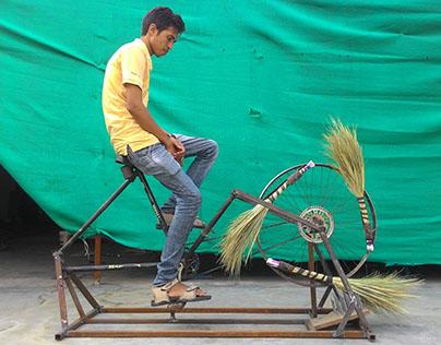 Broom Making Machine : SRISHTI SIS '15-UNICEF