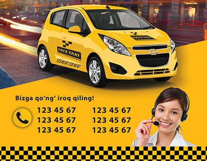 flyer design for fayz taxi