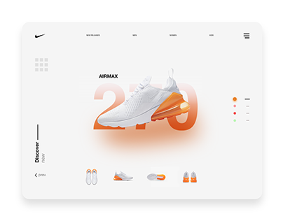 Nike Air Max 270 Total Orange & White