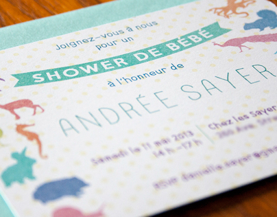 Andrée's Baby Shower Invitations