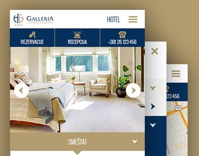 Hotel Galleria - website redesign