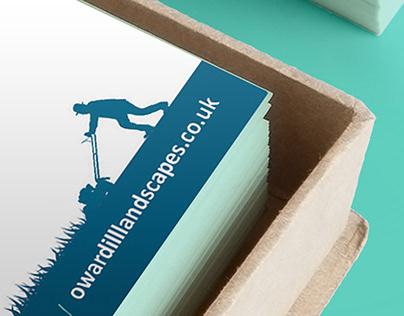 Business card design | Oliver Wardill Landscapes