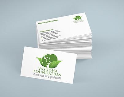 Stationary Design for Vasudha Foundation