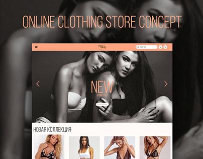 Redesign | Online shop with underwear