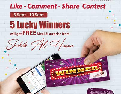 Contest lucky winner post