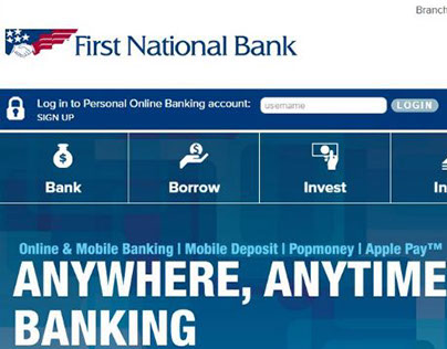 First National Bank | Website Banners