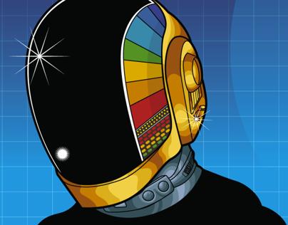 Daft Punk Illustration for STATUS Magazine