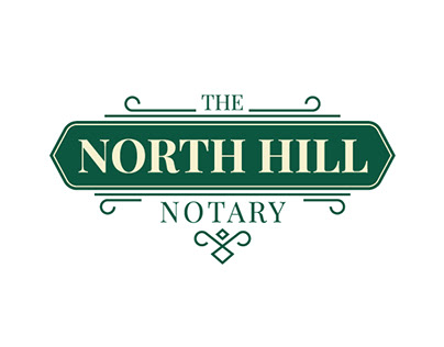 The North Hill Notary Logo Design