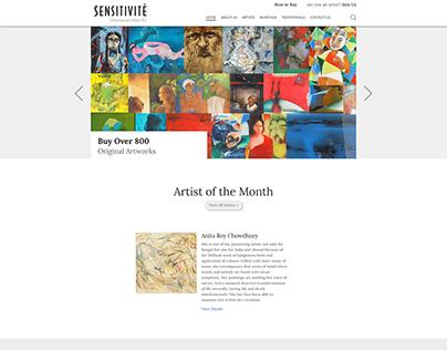 Website Design and Development for Art listing website.