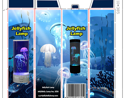 Packaging Design for a Jellyfish Lamp