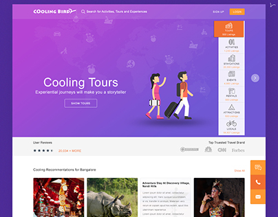 Cooling bird _ Tour & Activities website