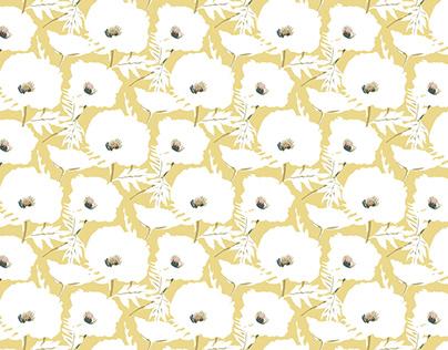 """Seamless pattern """"Poppy field"""""""