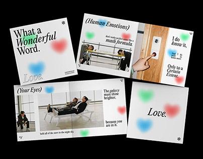 love; what a wonderful word. — a mini zine