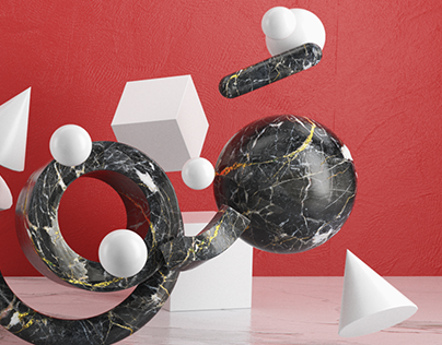 Explorations in abstract 3D type.