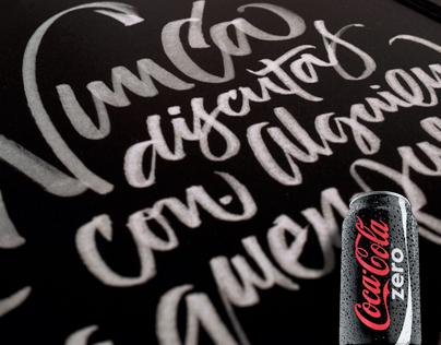 Coca-Cola Zero calligraphy