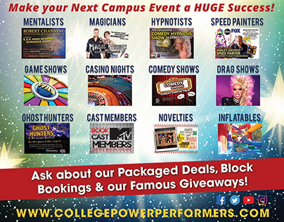 College Power Performers Trade Show Banners