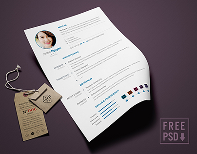 Clean Simple Resume Free Download