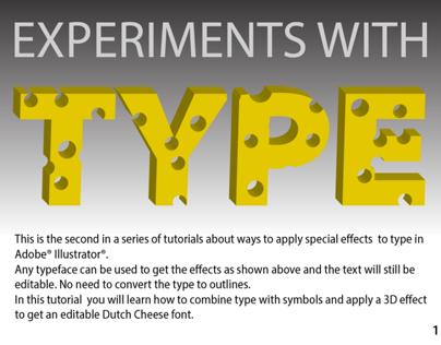 Illustrator Cheese Type effect